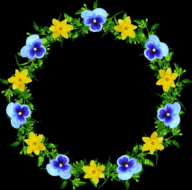 Картинки венков из цветов 6