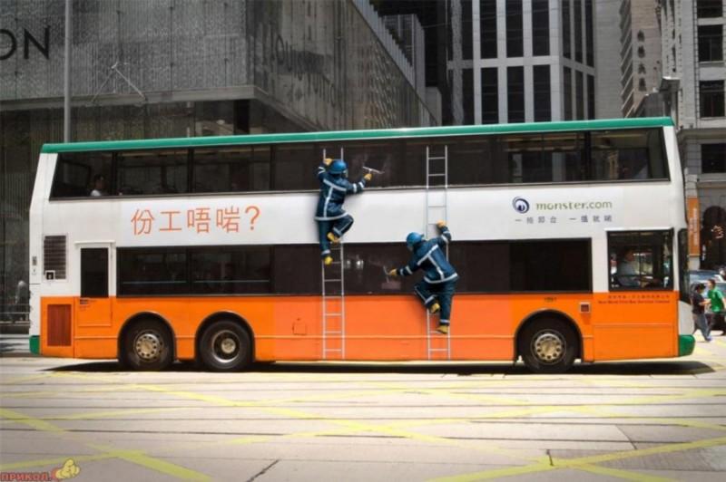 Креативная реклама на транспорте