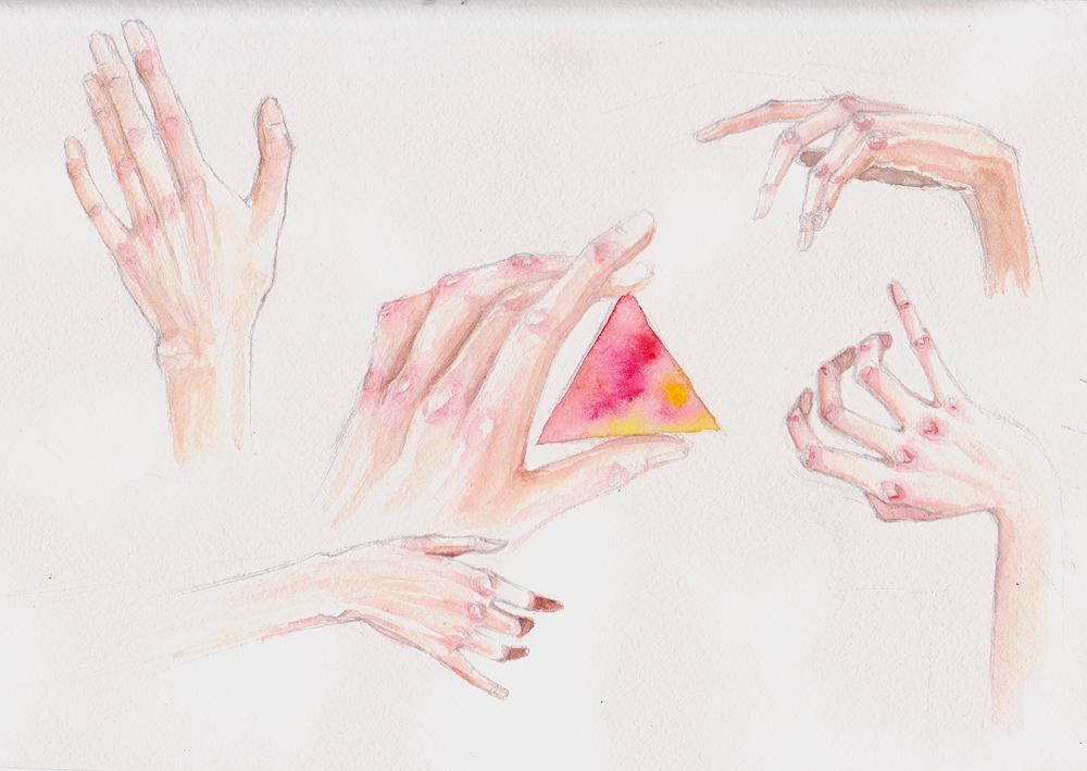 Рисовать гуашью пальцами
