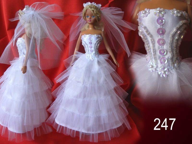 Платья для куклы барби фото своими руками