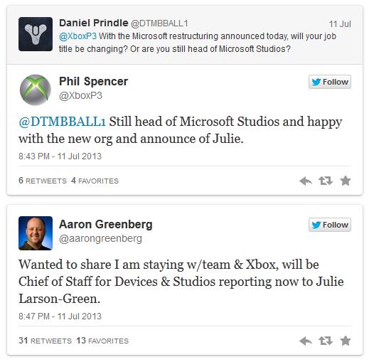 Фил Спенсер и Аарон Гринберг подтвердили, что не покинут Microsoft | Microsoft