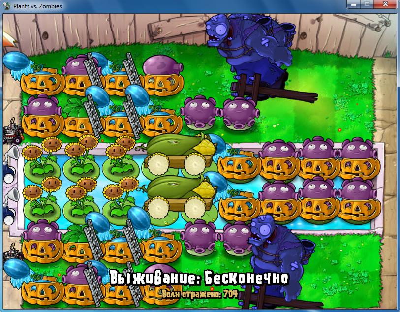 Обновление растения против зомби