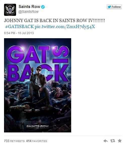 Johnny Gat вернется в Saints Row IV |