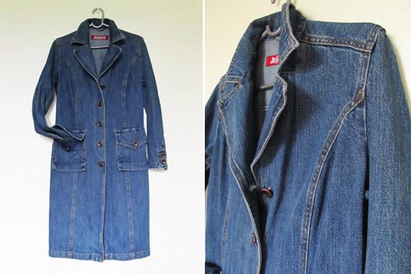 Как сшить пальто из джинсы 233