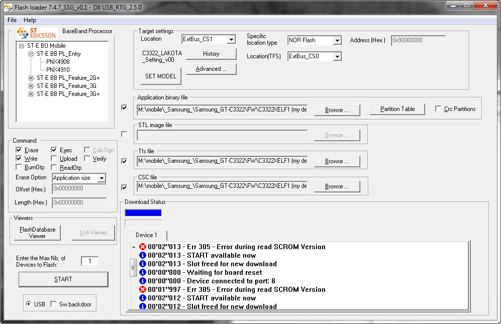 Samsung GT C3322i прошивка