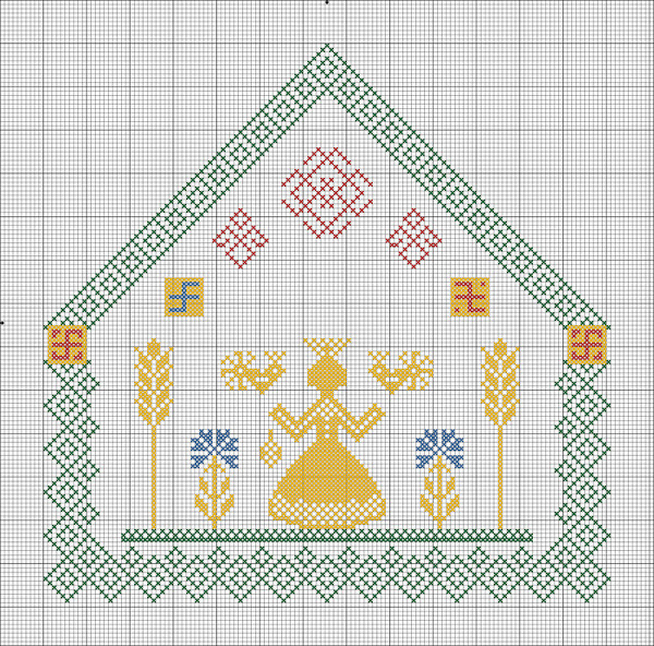 схема вышивки крестиком макошь