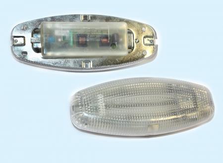 Россия.  ВОЛГА ВОС.  Плафон освещения салона Г-3110 (неон 7Вт) 40 Производитель.