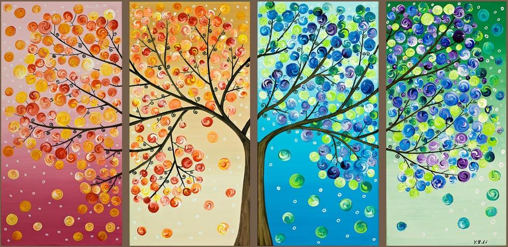 Картина дерево счастья своими руками
