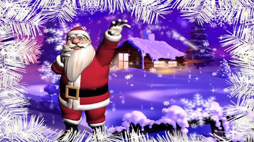 Новогодний футаж - веселый  Санта