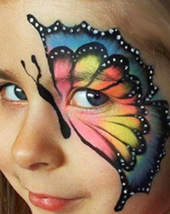 Как выполнить рисунки на лице