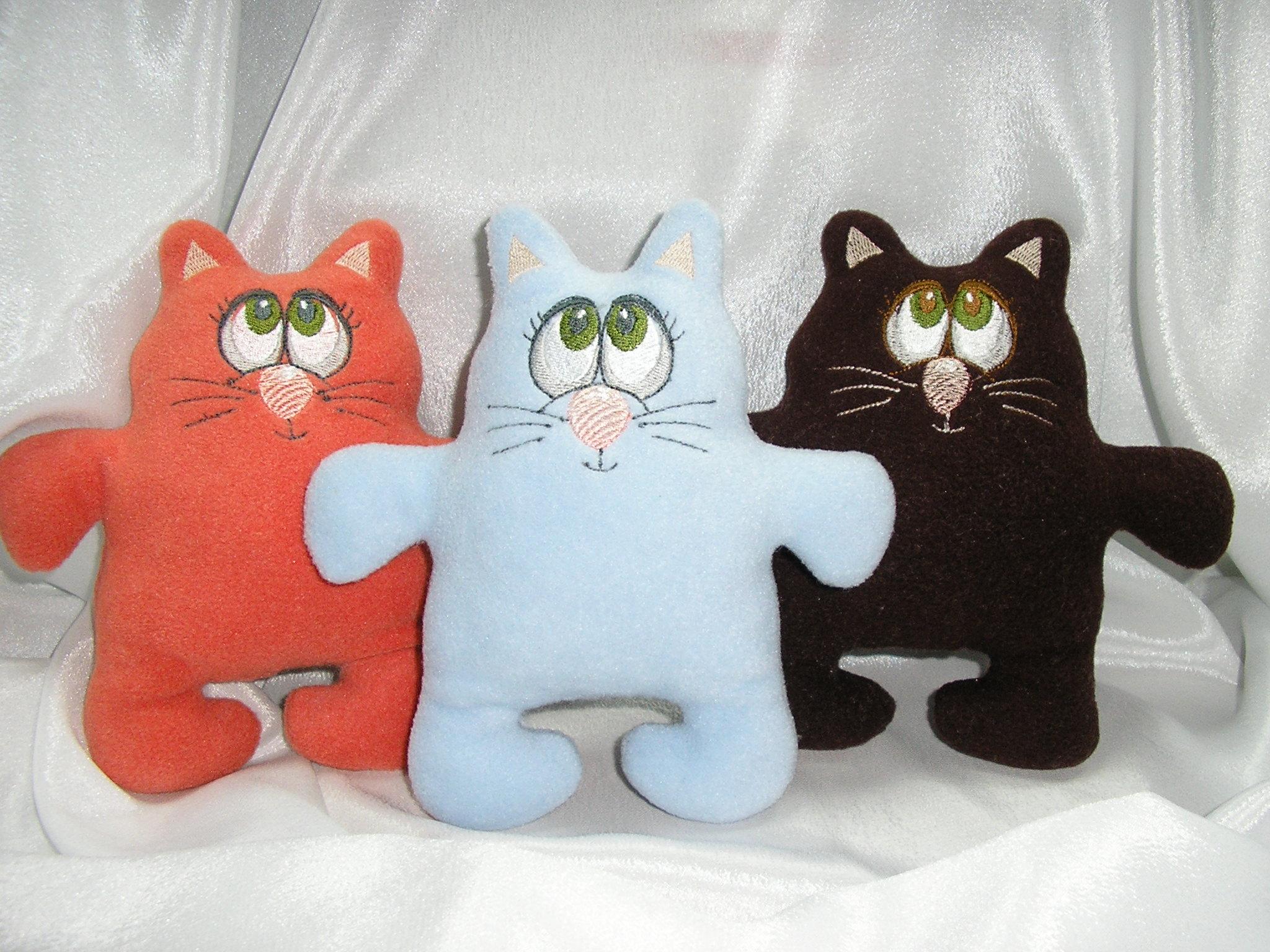 Коты из ткани своими руками