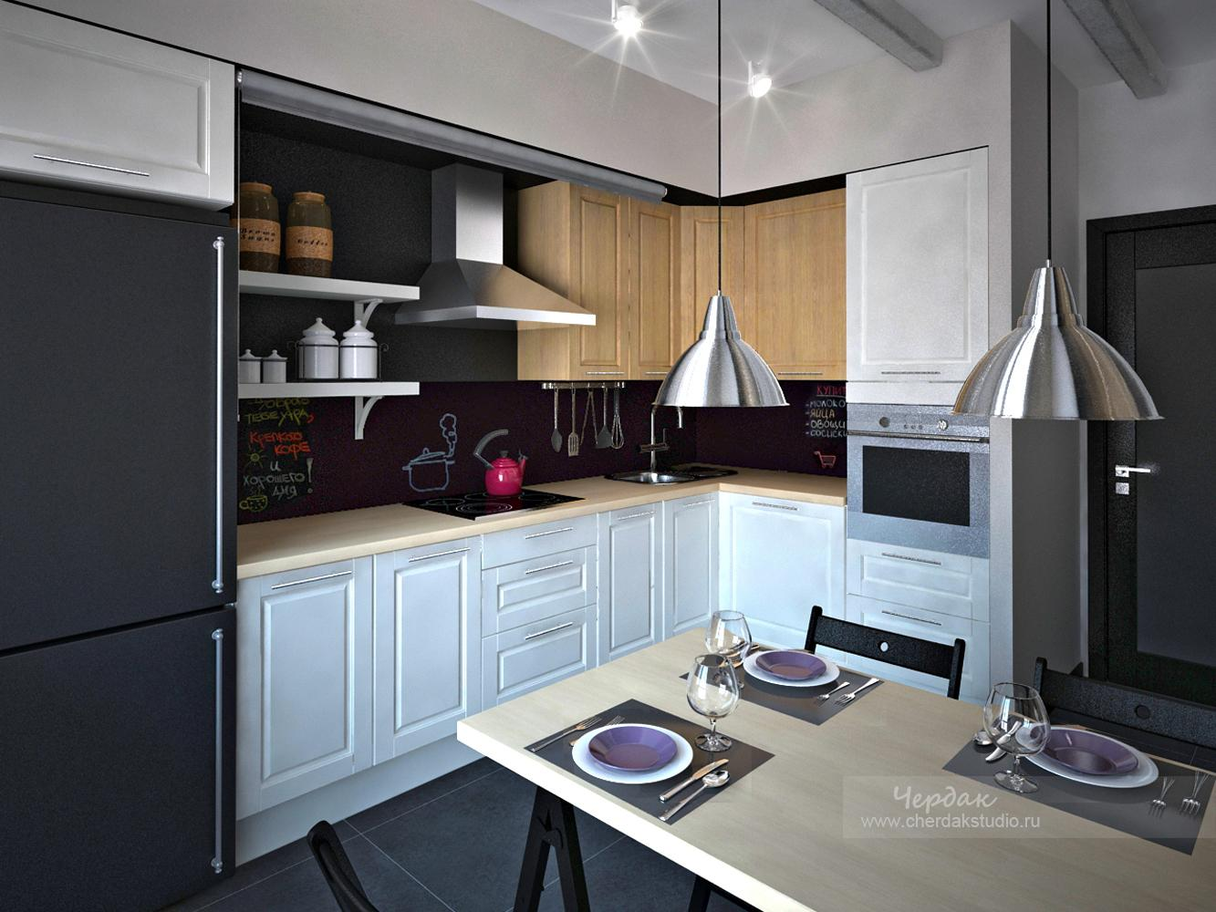 Интерьер кухонь в домах п44т.
