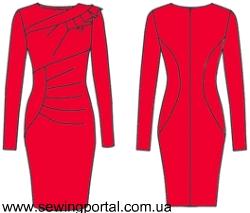 Как сшить платье со складками