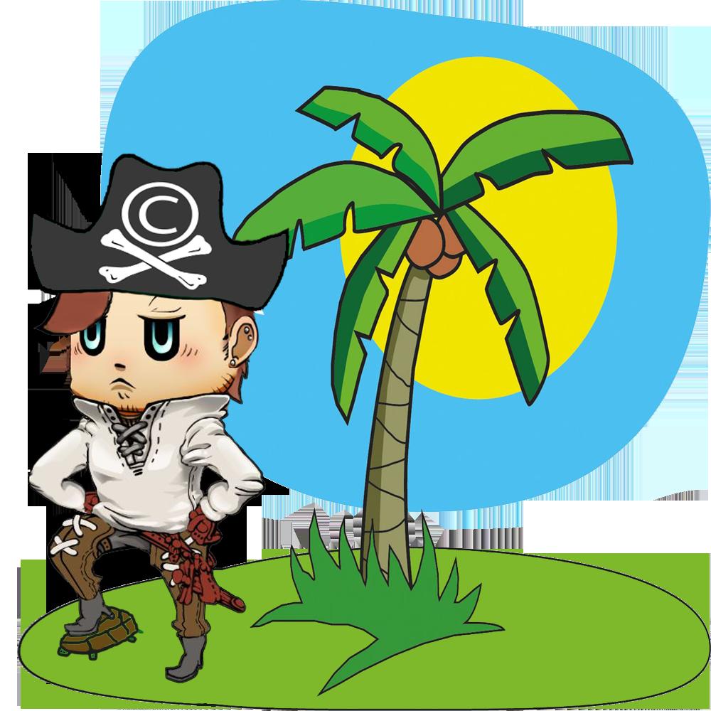небольшого рисунок пираты на острове встрепенутся, потребуют название